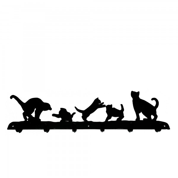 Garderobenleiste Panoramic Cats Playing Spielende Katzen Coat Rack The Profiles Range
